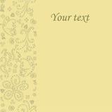 Vykortvektor Vykortbeigasignaler Vykort med din text Vykortinbjudankort Royaltyfri Bild