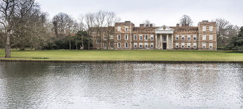 The Vyne Mansion. Panorama of the Vyne a 16th century Tudor Mansion near Basingstoke Hampshire England owned by the National Trust. It is famous as the location Royalty Free Stock Images