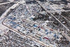 Vyngapurovsky Is Oilman`s Village In West Siberia, Bird`s Eye View Royalty Free Stock Images