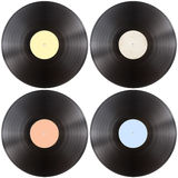 Vynil gramophone record disk set Stock Image