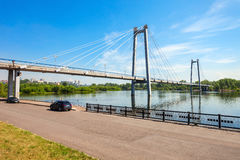 Vynogradovskiy Bridge in Krasnoyarsk Stock Images