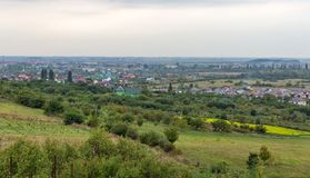 Vynohradiv town cityscape, Ukraine. Royalty Free Stock Photography