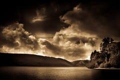 Озеро Vyrnwy, Уэльс, предел Джулиана Стоковые Изображения