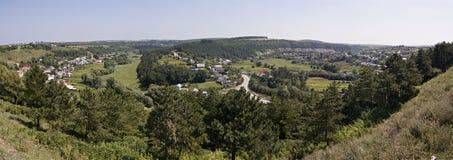 Vysechka Panorama del pueblo de Vysechka Fotos de archivo