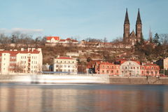 Vysehrad cathedral Royalty Free Stock Images