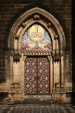 The Vysehrad cathedrale door Royalty Free Stock Photo