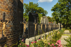 The Vysehrad cemetery with famous the Slavin tomb, designed by Antonin Wiehl, Prague, CZ Stock Photo