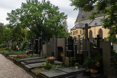 Vysehrad cemetery is important burial site Royalty Free Stock Images