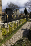 The Vysehrad cemetery in Prague Stock Photo