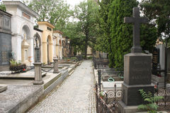 Vysehrad Cemetery Royalty Free Stock Photo