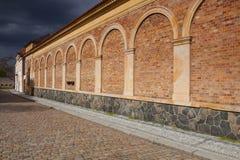 Vysehrad cmentarz przed ciężką burzą Praga, republika czech Fotografia Royalty Free