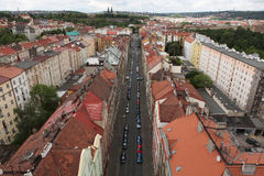 Vysehrad fortress from the Nusle Bridge in Prague, Czech Republi Royalty Free Stock Photos