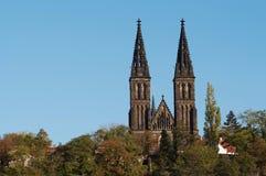 Vysehrad - Hoofdstukkerk van St Peter en Paul royalty-vrije stock afbeelding
