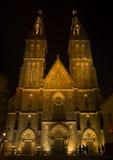 Vysehrad-Kirche Lizenzfreies Stockbild
