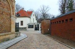 Vysehrad Kleine Straße im historischen Bezirk von Prag, Tschechische Republik stockbild