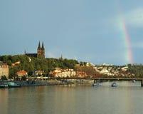 Vysehrad mit Regenbogen, Prag Lizenzfreies Stockfoto