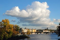 Vysehrad, Praag, Tsjechische republiek royalty-vrije stock foto's