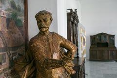 Vyshnivets,乌克兰- 2017年7月06日:Vyshnevetsky家庭宫殿内部在捷尔诺波尔地区 库存图片