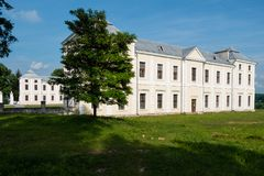 Vyshnivets,乌克兰- 2016年6月10日:Vyshnevetsky家庭宫殿在捷尔诺波尔地区 免版税图库摄影