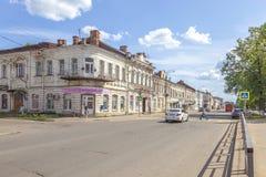 Vyshny Volochyok Kazan Vooruitzicht Cityscape royalty-vrije stock foto's
