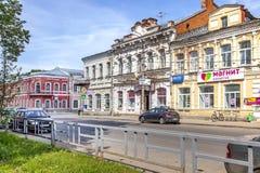 Vyshny Volochyok Kazan Vooruitzicht Cityscape royalty-vrije stock afbeeldingen