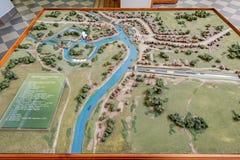Vyshny Volochyok Waterway map Stock Image