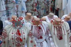 vyshyvanka,乌克兰传统衣裳行  基辅 库存照片