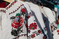 Vyshyvanka 乌克兰语被绣的女衬衫 乌克兰衬衣 乌克兰服装 免版税图库摄影
