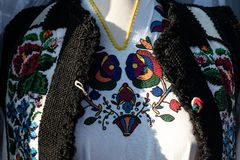 Vyshyvanka Kniaź upiększona bluzka Ukraińska koszula Ukraiński kostium salopa Ukraińska kurtka zdjęcie stock