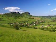 Vysny Kubin, birthplace of P. O. Hviezdoslav. Summer view of valley with Vysny Kubin village (obec Vyšný Kubín), birthplace of famous P. O. Hviezdoslav stock photos