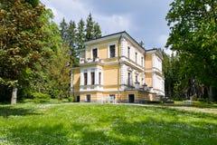 Vysoka-Schloss, Tschechische Republik, Europa Stockbild