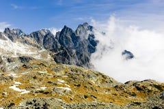 Vysoke Tatry & x28;High Tatras& x29;, Slovakia. Outdoor, outdoors, outside, exterior, exteriors, europe, eastern, republic, czechoslovakia, tatransky, national stock photography