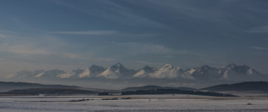 Vysoke Tatry mountains in winter time Stock Photos