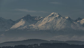 Vysoke Tatry mountains in winter time Stock Photography