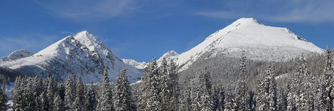 Vysoke Tatry - winter mountains Stock Photography