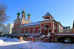 Vysokopetrovskyklooster in Moskou Royalty-vrije Stock Afbeelding