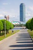 Vysotsky摩天大楼在叶卡捷琳堡 库存图片