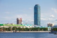 Vysotsky摩天大楼在叶卡捷琳堡 图库摄影