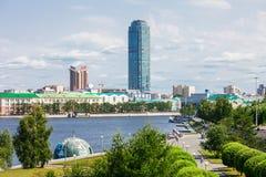 Vysotsky摩天大楼在叶卡捷琳堡 免版税图库摄影