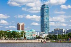 Vysotsky摩天大楼在叶卡捷琳堡 库存照片