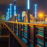 Vytautas伟大的桥梁在考纳斯 库存图片