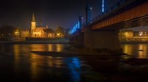 Vytautas的伟大的教会在考纳斯,立陶宛 免版税库存图片