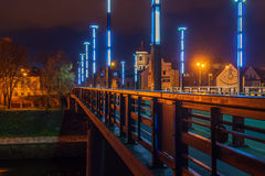 Vytautas мост больших или Aleksotas в Каунасе, Литве Стоковые Фото