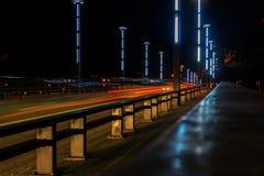 Vytautas мост больших или Aleksotas в Каунасе, Литве Стоковое Фото