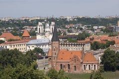 Vytautas教会,考纳斯,立陶宛 免版税库存图片