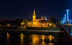 Vytautas的伟大的教会在考纳斯 库存图片