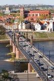 Vytautas el gran puente Imágenes de archivo libres de regalías