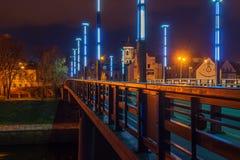 Vytautas the Great or Aleksotas Bridge in Kaunas, Lithuania stock photos