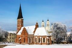 Vytautas the Great Church, Kaunas. Vytautas the Great Church of the Assumption of The Holy Virgin Mary is a Roman Catholic church in the Old Town of Kaunas Royalty Free Stock Photo