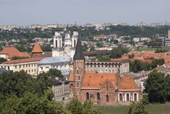 Vytautas Kościół, Kaunas, Lithuania Obrazy Royalty Free